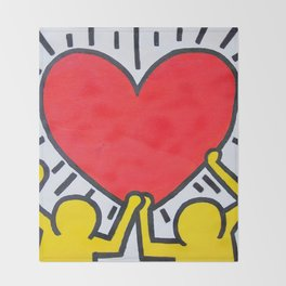 Keith Haring Throw Blanket