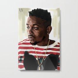 Kendrick Lamar digital painting print Metal Print