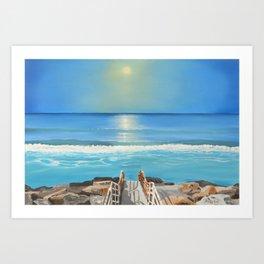 Aberavon Beach Art Print