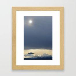 Cloud v Mountain Framed Art Print