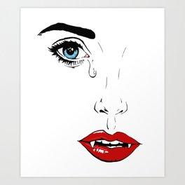Vampire Beauty Art Print