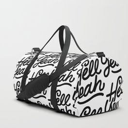 hell yeah X typography Duffle Bag