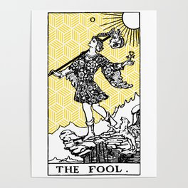 Geometric Tarot Print - The Fool Poster
