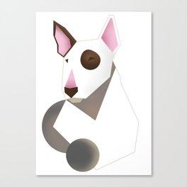 White bull terrier Canvas Print