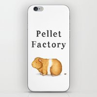 guinea pig iPhone & iPod Skins featuring Pellet Factory - Guinea Pig Poop by When Guinea Pigs Fly