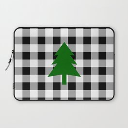 Christmas Tree - black buffalo check Laptop Sleeve