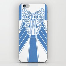 Power Wolf Blue iPhone & iPod Skin