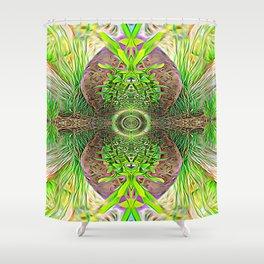 Vibrating Greenery Shower Curtain