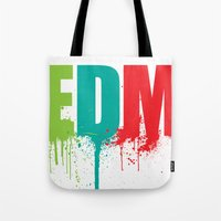 edm Tote Bags featuring EDM Lover by DropBass