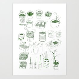 Cover, CONTAIN, Compost - 2 of 3 Art Print