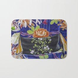 Kimono Flowers Bath Mat