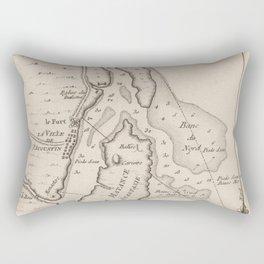 Vintage Map of St Augustine FL (1764) Rectangular Pillow