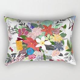 Colorful Mix Flower Bouquet Pattern Rectangular Pillow