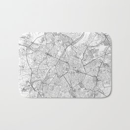 Brussels Map Line Bath Mat