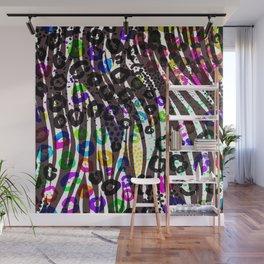 Funky Multi Color Animal Print Wall Mural