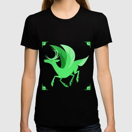 Monochrome Mythical Creatures - Peryton T-shirt