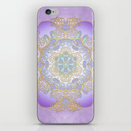 Purple & Gold Mandala iPhone Skin