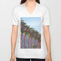 palms V-neck T-shirts featuring palms by melissamartin