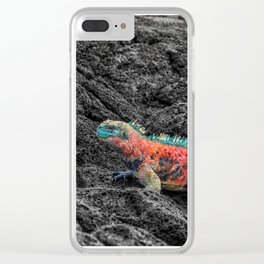 Christmas Iguana in the Galapagos Clear iPhone Case