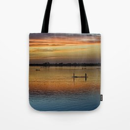 River Niger sunset - Segou, Mali, Africa Tote Bag