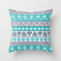 tribal Throw Pillows featuring Tribal by Julscela