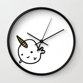 BIG GOLD BUDDY NARWHAL Wall Clock