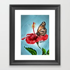 Butterfly on flower 2 Framed Art Print