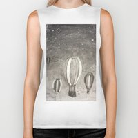 hot air balloons Biker Tanks featuring Hot Air Balloons by Evanne Deatherage