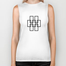 Geometric Pattern 52 (outline rectangles) Biker Tank