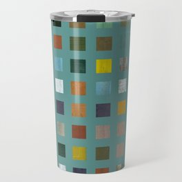 Rustic Wooden Abstract Vl Travel Mug