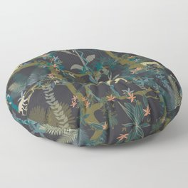 Tropical wild animals in the jungle Floor Pillow