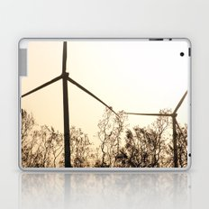 Sunrise with Wind Turbines  Laptop & iPad Skin