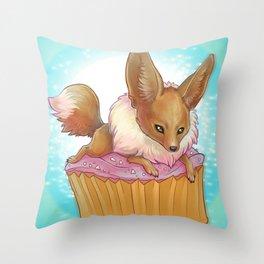 Eevee Cupcake Throw Pillow
