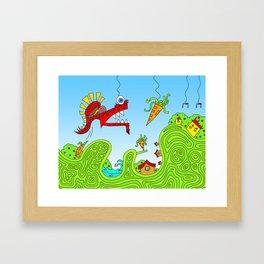 #131: I Found Your Stapler Framed Art Print