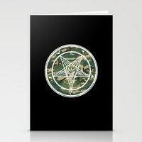 pentagram Stationery Cards featuring Pentagram Camo by Parin Cashmony
