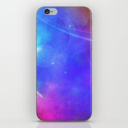 Abstract Pink and Purple Cosmic Space Design iPhone Skin