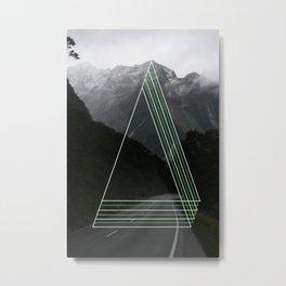 Rainy Road Trip. Metal Print
