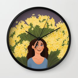 1000 Yellow Daisies Wall Clock
