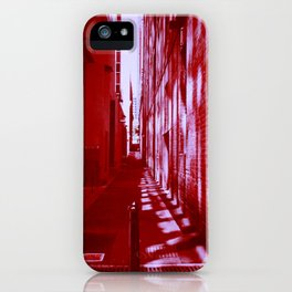 Red Alley Reflections iPhone Case