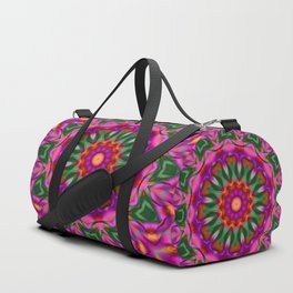 green pink kaleidoscope Duffle Bag