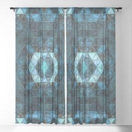 Mosaic Ocean Sheer Curtain
