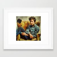 dylan Framed Art Prints featuring dylan  by janice maclellan