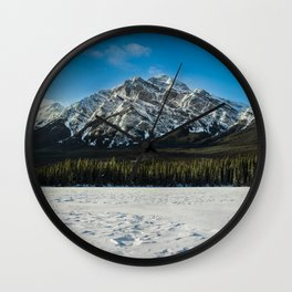 Frozen Pyramid Lake Panorama Wall Clock