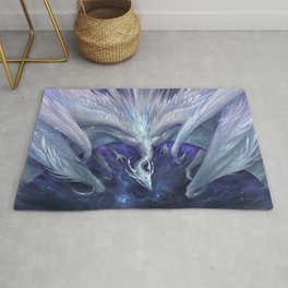White Crystal Dragon Rug