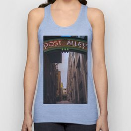Post Alley in Seattle Washington Unisex Tank Top