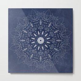 Indigo Mystique Mandala Metal Print