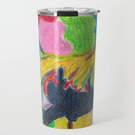 Rainbow Cluck Travel Mug