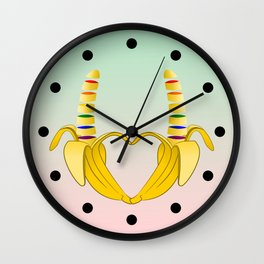 Gay Pride Banana Heart Wall Clock