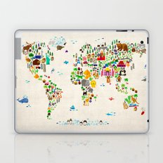 Animal Map of the World for children and kids Laptop & iPad Skin