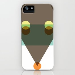 Minimalist coyote iPhone Case